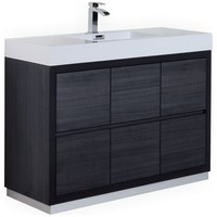 Kubebath Bliss Single Sink Floor Mount Bathroom Vanity - Contemporary - Bathroom Vanities And Sink Consoles - by Aqua Bath Inc