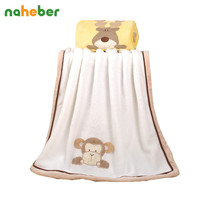 Super Soft Fleece Baby Blanket Infant Crib Bedding Cartoon Monkey Rabbit Bear Blanket Newborn Gift For Boy Girl 76*102cm 4colors