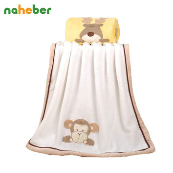 Mother & Kids 76*102cm Super Soft Polyster Baby Blanket Infant Crib Bedding Cartoon Monkey Rabbit Bear Blanket Newborn Gift For Boys Girls Blanket & Swaddling