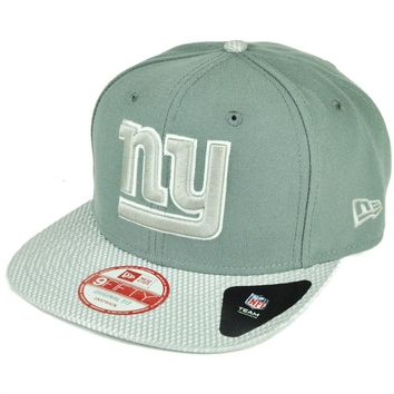 NFL New Era 9Fifty Flash Vize New York Giants Snapback Hat Cap Flat Bill Gray