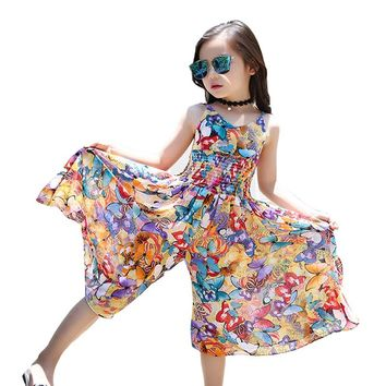 66a6b955358 Bohemia Children Dress Girls Summer Floral Party Dresses Toddler