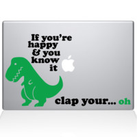 Sad Dinosaur Macbook Decal | The Decal Guru