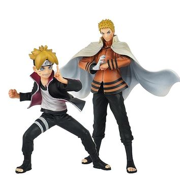 Naruto Sasauke ninja 2pcs/set Japanese Anime  Uzumaki  Boruto Action Figure PVC Toys Model Doll Decoration Kid Adult Gift AT_81_8