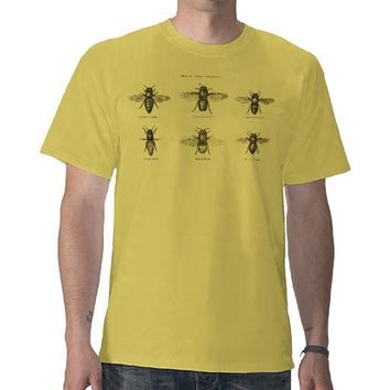 Vintage Bees Bee Honey Scientific Illustration T-shirts from Zazzle.com