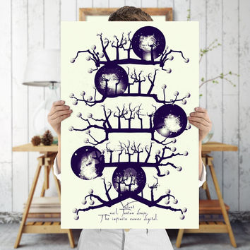 Grunge Art Print - Quirky and Unique Tree Wall Art, Digital Download | Printable Bohemian Decor by Mila Tovar