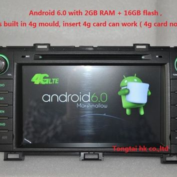 """8""""Android 6.0 for Toyota prius left car dvd,gps navigation,rds,wifi,4G LTE,quad core,1024 x 600,2GB RAM,support DVR,OBD2,Russian"""