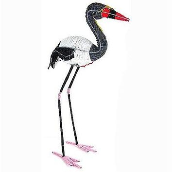 Handmade Life-Size Beaded Saddle-billed Stork - South Africa