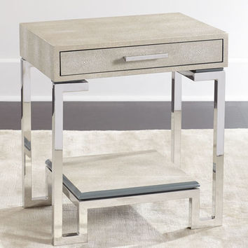Regina-Andrew Design Corgan Nickel End Table