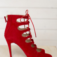Princess Lace Up Heel