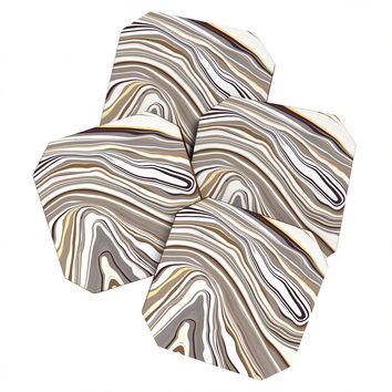 Jacqueline Maldonado Marble Neutral Coaster Set