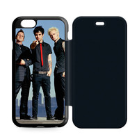 Green Day Band Leather Wallet Flip Case iPhone 6 | 6S