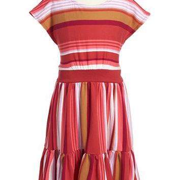 Girl's Tea Collection 'Tiquipaya' Stripe Dress,
