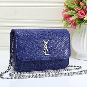 Perfect YSL Yves Saint Laurent Women Fashion Leather Shoulder Bag Crossbody