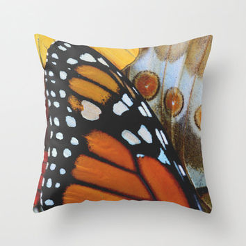 Velveteen Pillow - Butterfly Pillow Cover - Rustic Decor - Boho Decor - Nature Decor - Monarch Butterfly - Butterfly Throw Pillow