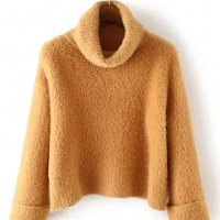 Tan Turtle Neck Sweater
