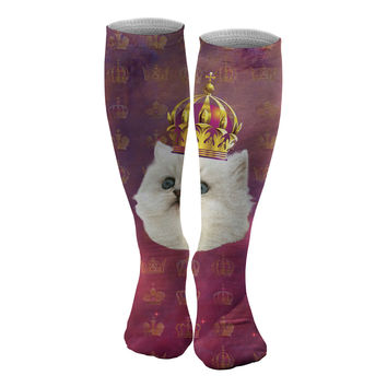 King Cat knee socks