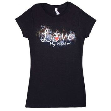 Fox Outdoor Products Womens Love My Marine Cotton Tee