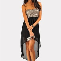 Harlow Sequin Tube Dress - Silver at Necessary Clothing