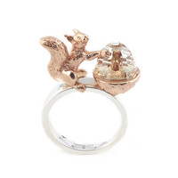 Bill Skinner Acorn and Squirrel Ring