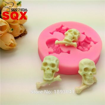 New arrival 3PCS skull cake mold, Sugar Silicone cake Decorating Tools Kitchen accessories