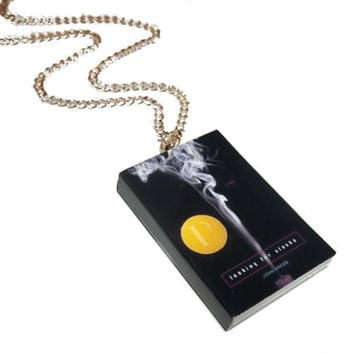 Looking for Alaska Necklace, John Green Jewelry, Miniature Book Necklace