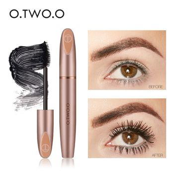 O.TWO.O 3D Silk Fiber Eyelash Black Mascara Waterproof Long Lasting Lash Thick Mascara Long Eyelashes Extension Make Up Mascara