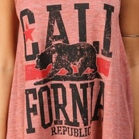 Rust Cali Bear Tank Top