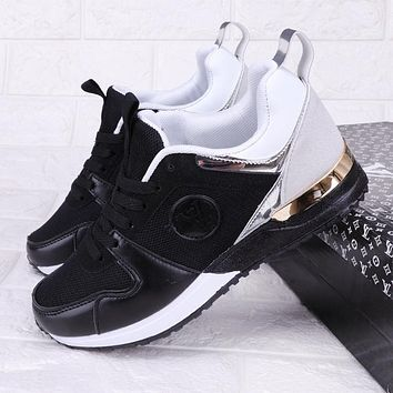 Louis Vuitton LV New Fashion Sports Leisure Running Contrast Color Shoes Black