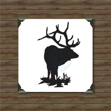 ELK /2/ vinyl decal / car decal / hunting decal / bow and arrow decal / black bear / hunter decal / bowhunter / deer hunting