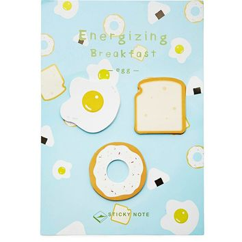 Breakfast Sticky Note - 3 Pack