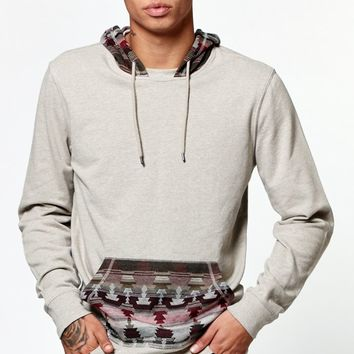 On The Byas Glen Pullover Hoodie - Mens Shirt - Brown