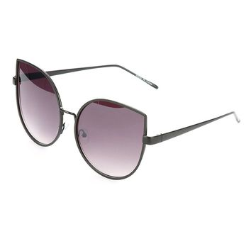 Black Cateye OVERSIZED FASHION Sunglass
