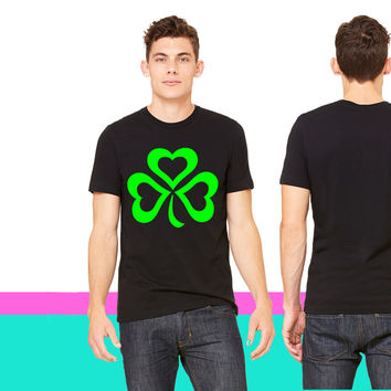 Gladditudes Shamrock with hearts T-shirt