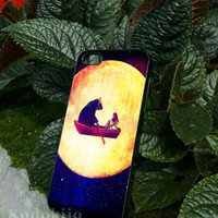 Moon Flight for iphone 4/4s case, iphone 5/5s case, iphone 5c case, samsung s3 i9300 case, samsung s4 i9500 case in kodokijo