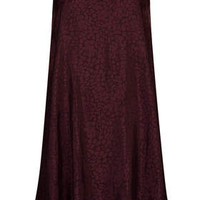 Jacquard Swing Slip Dress - Mulberry