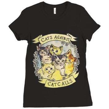cats against cat calls Ladies Fitted T-Shirt