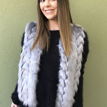 Luxe Faux Fur Vest - Gray