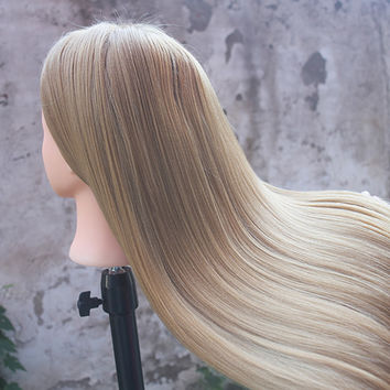 """26"""" Training Head for Hairdressers Mannequin Head Hair Yaki Synthetic Hairdressing Doll Heads Cosmetology Mannequin Head Manikin"""
