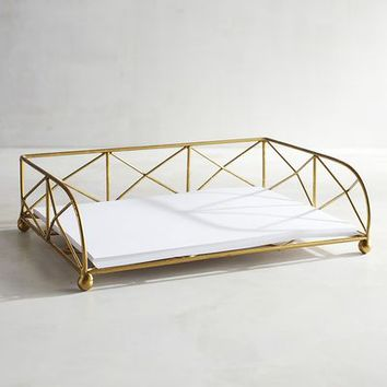 Caitlin Gold Paper Tray