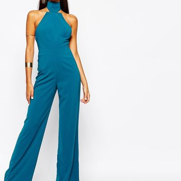 AQ AQ Excalibur High Neck Jumpsuit at asos.com