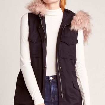 Women's BB Dakota Get Your Swagger On Fur Hooded Vest