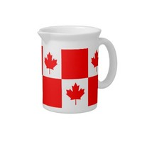 Canada flag pattern Pitcher