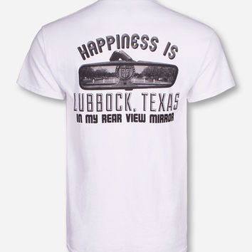 """Texas Tech """"Happiness Is Lubbock"""" White T-Shirt"""