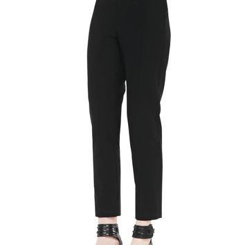 Slim Crepe Ankle Pants, Women's - Eileen Fisher - Black (1X (14/16))