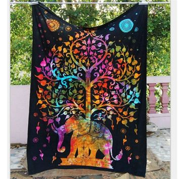 Indian Mandala Tapestry Throw Hippie Tapestry Hanging Tapestry