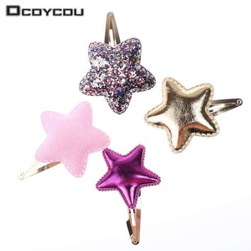 10 PCS Style Baby Tie Bow Love Heart BB Hairpins Children Accessories Girls Headwear Color Princess Star Cute Barrette Hair Clip
