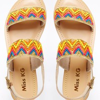 Miss KG Roxanne Beaded Two Part Flat Sandals