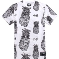 Neff Pineapple Bahama T-Shirt - Mens Tee - White -