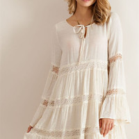 Solid Guise Baby Doll Dress - Natural