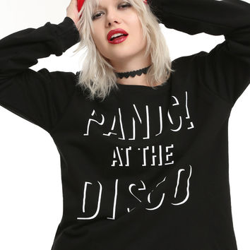 Panic! At The Disco Logo Girls Crop Sweatshirt